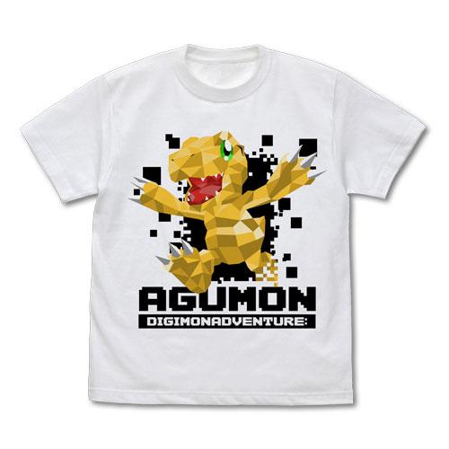 デジモンアドベンチャー: アグモン ポリゴングラフィック Tシャツ